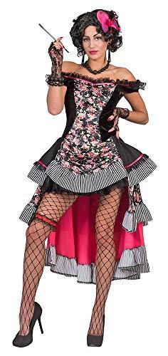 Funny Fashion Saloon Girl Sierra Kostüm für Damen - Gr. 40 42 (Cowboy Und Saloon Girl Kostüm)