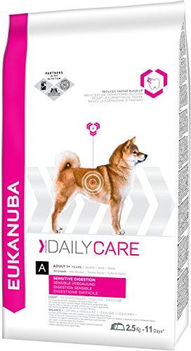 Eukanuba Daily Care Hundefutter – Trockenfutter in der Geschmacksrichtung Huhn für Hunde mit sensibler Verdauung - geeignet für alle ausgewachsenen Rassen – 1 x 2,5kg Beutel
