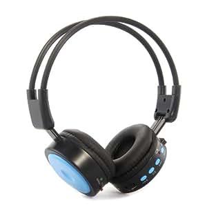 3.5mm Headset Headphone MP3 Music Player FM Radio TF/SD Card Blue