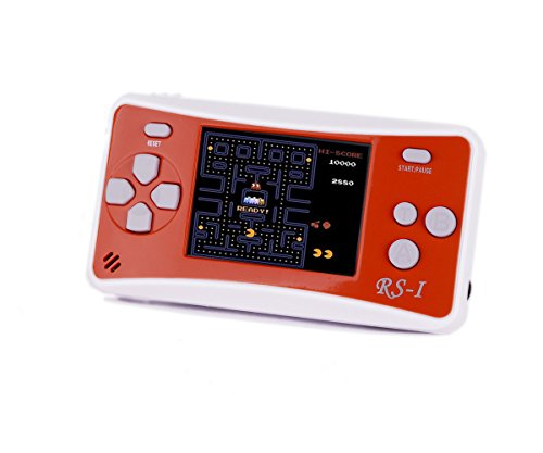 Handheld Game Console, QINGSHE 2.5'' LCD Classic 8 Bit Retro Portable Video Game with 152 Games Built-in Game Player,Best Birthday Christmas Gifts for Children-ORANGE
