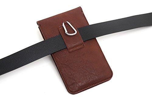Mehrzweck großes Fassungsvermögen Wallet Leder Handy Holster Fall Gürtelschlaufe Taille Tasche leicht Tasche mit Gürtel Clip für iPhone 6S 6Plus Samsung S7Edge Plus LG G3+ Holster 16cm dunkelblau