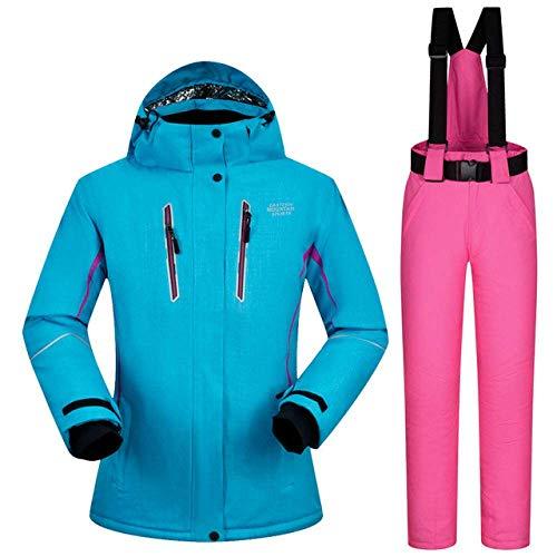 XYQY Ski Anzug Winter Ski Anzug Frauen Winddichte wasserdicht atmungsaktive Thermal Schneejacken und Hosen Skifahren und Snowboard S ZYNW01 PINK