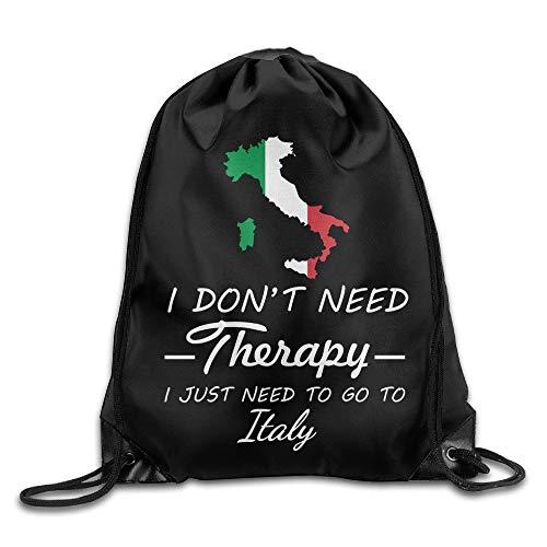 Michael Staton Ich Brauche Keine Therapie, gehe einfach nach Italien. Cool Drawstring Backpack String Bag -