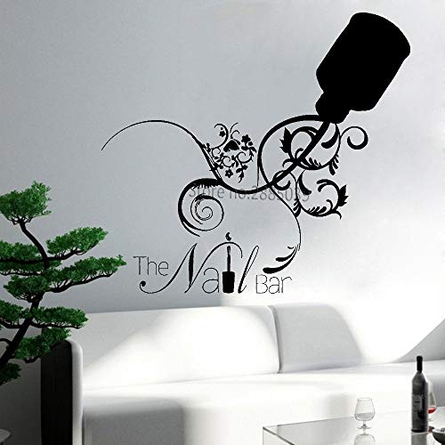 Ajcwhml Neue kreative nagelstudio Logo Applique Fenster Aufkleber Nail Art Studio bar wanddekoration Aufkleber Nagel schönheitssalon Aufkleber 46 cm x 42 cm
