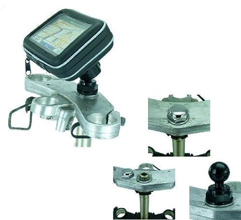 Attelage 76,2-12,7 cm XL écran GPS Satnav Fixation Moto Écrou Rotule (sku 16713)