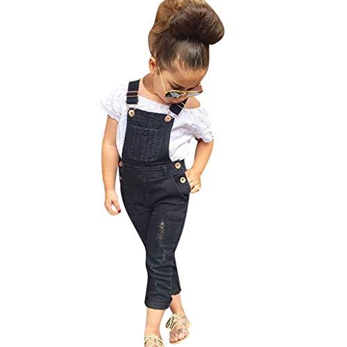 Winkey Halloween Kids Set, Kleinkind Casual Baby Trend Mode Mädchen Kinder Off-Shoulder Top + Strap Jeans Hosen Set -