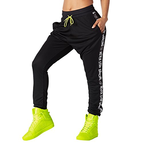 zumba-fitness-when-the-sun-goes-down-mesh-jogger-pour-femme-bottoms-xs-back-to-black