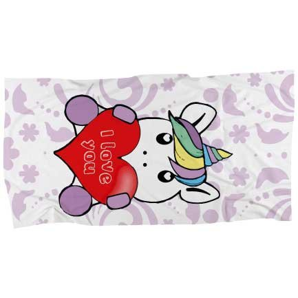 My custom style telo mare #unicorno i love you# microfibra full print 160x80
