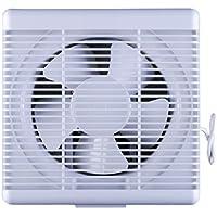 KERABAD Ventilator mit Jalousie L/üfter Badl/üfter Wandl/üfter Bad-L/üfter f/ür WC Bad oder K/üche Feuchtesteuerung Feuchtesensor Weiss /Ø 120 mm Durchmesser HT