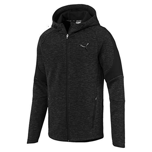 Puma Herren Evostripe FZ Hoody Pullover, Cotton Black, XL