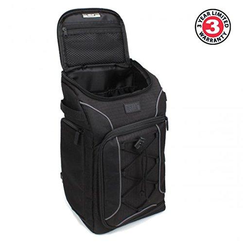 USA Gear S15Rucksack doppelt PROFI Kamera DSLR mit Decke Waterproof inklusive, Schränke personalisierbar & Port Stativ für Canon EOS 700D, Nikon D3300, Pentax und mehr