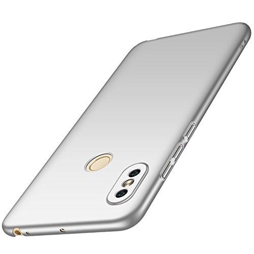 anccer Xiaomi Mi Max 3 Hülle, [Serie Matte] Elastische Schockabsorption und Ultra Thin Design für Xiaomi Mi Max 3 (Glattes Silber)