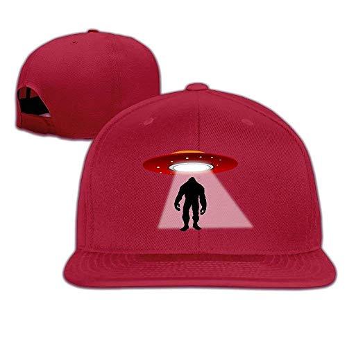 Osmykqe Snapback UFO Bigfood Flat Bill Sun Hat Unisex Baseball Caps for Girls Boys Teens GH768 (Baseball-geschenke Für Teen Boys)
