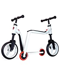 S.M.J. Sport niños Balance Bike 2 in1 na01110 Scooter accesorios, color blanco, One size