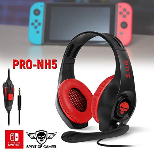 Casque Audio Pro NH5 pour Nintendo Switch Spirit of Gamer - Stéréo - 40mm