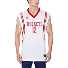 adidas Howard Camiseta, Hombre, Blanco/Rojo (NBA Houston Rockets 5 3Rc)