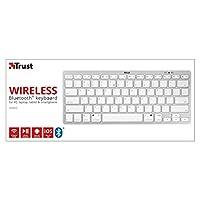 Trust Nado Kablosuz Bluetooth Klavye, Beyaz