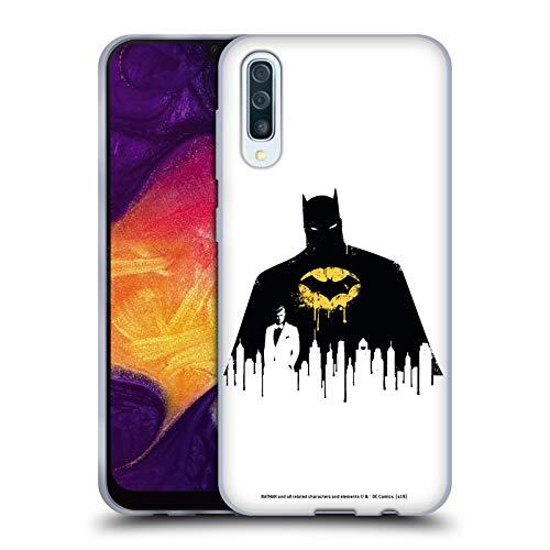 Stadtbild 1 T-shirt (Head Case Designs Offizielle Batman DC Comics Alter Ego Stadtbild 2 Dualitaet Soft Gel Huelle kompatibel mit Samsung Galaxy A50 (2019))