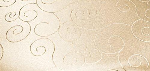 Tovaglia ovale, 160 x 260 cm, struttura damascata, non necessita di stiratura, antimacchia, #1235, poliestere, creme sand, 160 x 260 cm, ovale