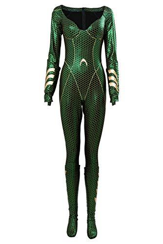 Dc Frage Kostüm - MingoTor Superheldin Jumpsuit Outfit Cosplay Kostüm Damen L