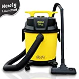INALSA Vacuum Cleaner Wet & Dry Micro WD10-1000W with 3in1 Multifunction Wet/Dry/Blowing| 14KPA Suction & Impact Resistant Polymer Tank,(Yellow/Black)