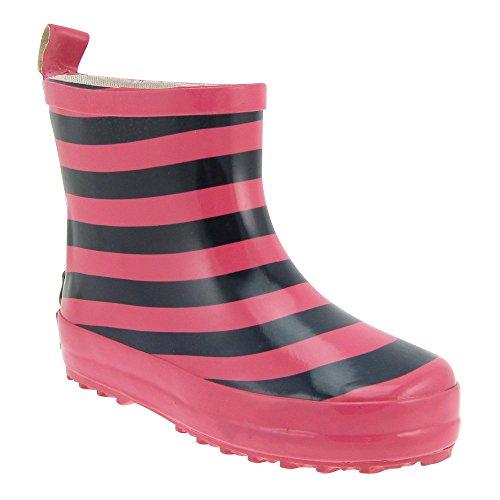 GALLUX - Kinder Gummistiefel Regenstiefel Mädchen und Jungen Kurzschaftstiefel Marine/Pink