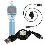 DURAGADGET Cable MicroUSB Retráctil Compatible con cámara Digital para niños VTech Kidizoom Flix Pasar Sus Datos Al PC