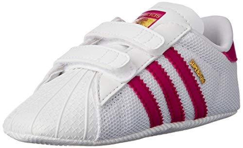 Adidas Superstar Crib, Zapatillas Unisex Bebé, Multicolor Blanco/Rosa, 17 EU