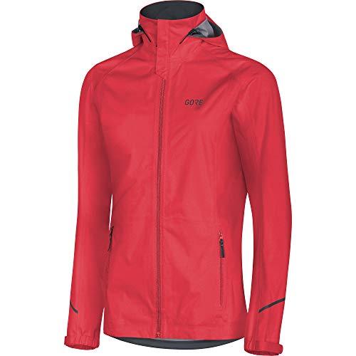 GORE WEAR Wasserdichte Damen Kapuzen-Laufjacke, R3 Women TEX Active Hooded, 40, Rot, 100071 Kapuzenjacke, Hibiscus pink