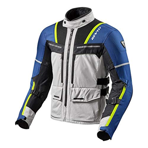 Revit Offtrack Motorrad Textiljacke Grau/Blau L Air-mesh-liner