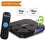 TV Box Android 7.1 [2G+16G] A1 MAX 4K Full HD Smart Player TV Box Bluetooth 4.0/64 Bits/Quad Core