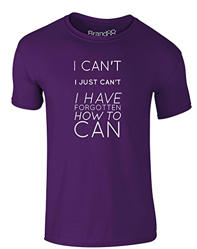 Brand88 - I Have Forgotten How to Can, Erwachsene Gedrucktes T-Shirt Lila/Weiß