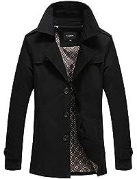 LaoZan Veste Trench Coat classique manteau court Parka - Manches longues - Homme