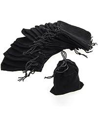 Rosenice - Funda de terciopelo con cordón, bolsa de almacenamiento para joyas, 75 unidades, 9x 7cm