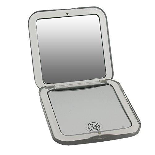 Miroir de poche de forme carré, Grossissant x7 - Zingus