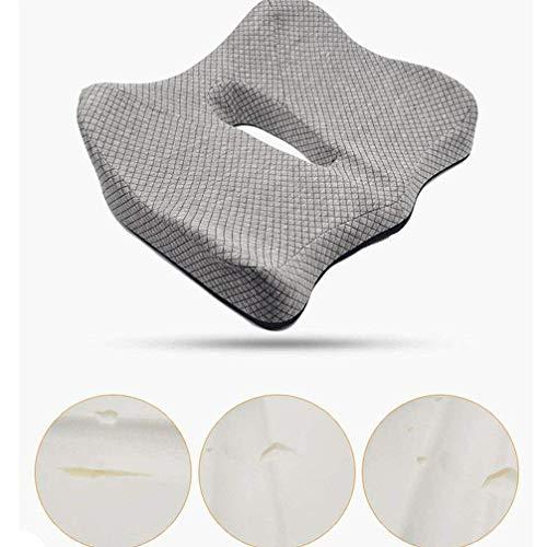 Terapia de confort Cojín ortopédico Gel ergonómico Espuma con memoria Parte inferior de la espalda, hueso de la cola y dolor de ciática