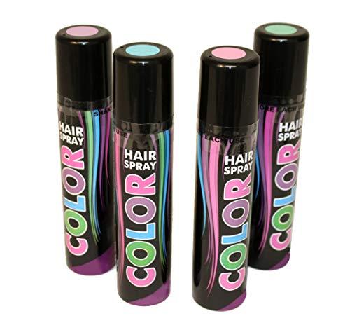 Haarspray Pastell Töne Spray für die Haare grün lila rosa blau Pastell Farben (Pastell Grün)