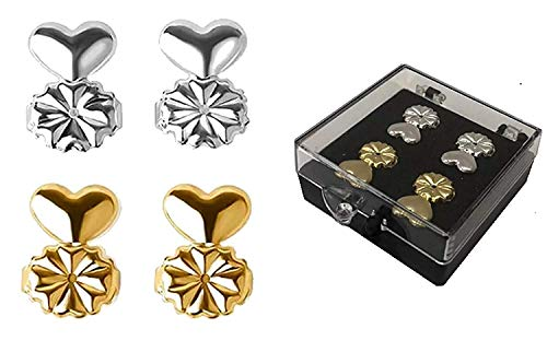 Skyzone Adjustable Lifter Lobe Gold and Silver Metal Earring for Women