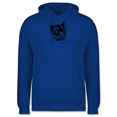 Wildnis - Gepard - Männer Premium Kapuzenpullover / Hoodie Royalblau