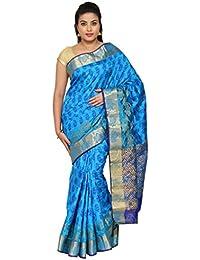 The Chennai Silks – Paisley Mango Printed Design Zari Border Dupion Silk Saree