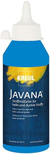 KREUL 91456 - Textil Opak Stoffmalfarbe, 250 ml Flasche, blau