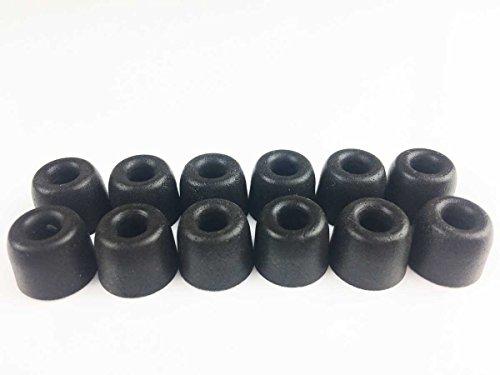 Memory Foam Auricolari Schiuma di memoria Schiuma orecchie Per PowerBeats 2 & 3 Jaybird X4 X3 X2 Denon Sony V-MODA Skullcandy JBL JVC JLAB BEYERDYNAMIC in Ear Bud & cuffie auricolare Ø4,9mm 6 paia, L (grande)
