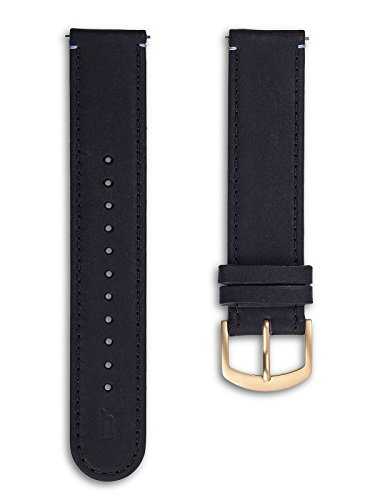 Lilienthal Berlin - Made in Germany – Wechselarmband, vegetabil gegerbtes Leder L1 (Farbe: schwarz /