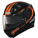 Nolan N87 FULGOR Integralhelm Motorrad Polycarbonat n-com - Metall schwarz orange Größe L