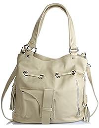 Olivia - Sac en cuir femme / Grands sacs tendances Sac Etudiante Cuir de vachette LIVRAISON GRATUITE / Handbag Leather