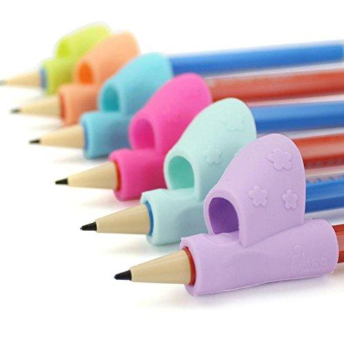 sunnymi 3PCS / Satz Kind Bleistift Halter Haltungs Korrektur Werkzeug Feder Schreibhilfen Griff Neue 3-12 Jahre alt Effekt ist Ideal (A) (Camo Jugend-blau)