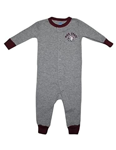 NCAA Mississippi State Bulldogs Bébé One-Piece Long Sleeve Playsuit 24M Grey