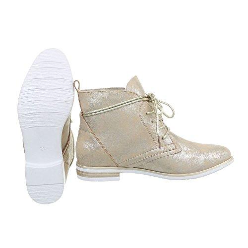 boots femme Desert Ital Design Or qApEwUqx