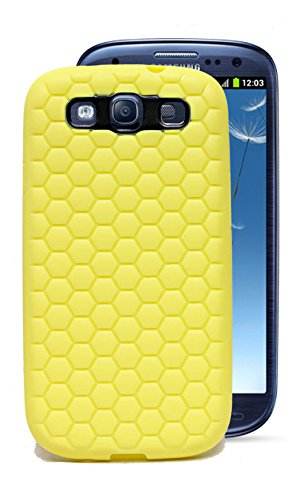 ECellStreet Exclusive Rubberised Gripped Soft Back Case Cover For Samsung Galaxy S3 I9300 - Yellow  available at amazon for Rs.149