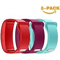 YaYuu Gear Fit 2 Pro/Fit 2 Armband, Ersatz Verstellbare Uhrenarmbänd Fitness Tracker Silikon Sports Armband für Samsung Gear Fit 2 Pro SM-R365 and Gear Fit 2 SM-R360 GPS Laufuhr